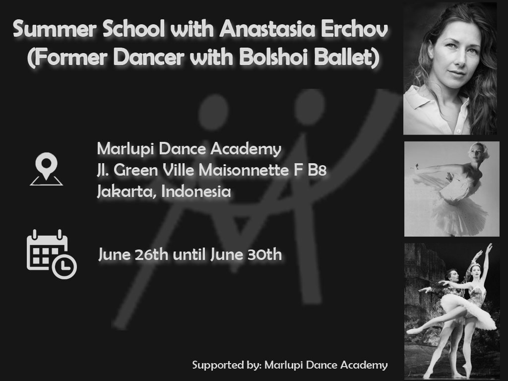 Summer school with Anastasia Erchov(Former Dancer with Bolshoi Ballet)